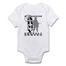Grandson Proudly Serves - ARMY Infant Bodysuit