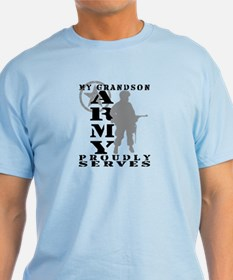 Grandson Proudly Serves - ARMY T-Shirt