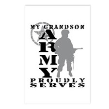 Grandson Proudly Serves - ARMY Postcards (Package
