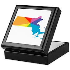 massachusetts rainbow Keepsake Box