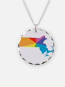 massachusetts rainbow Necklace