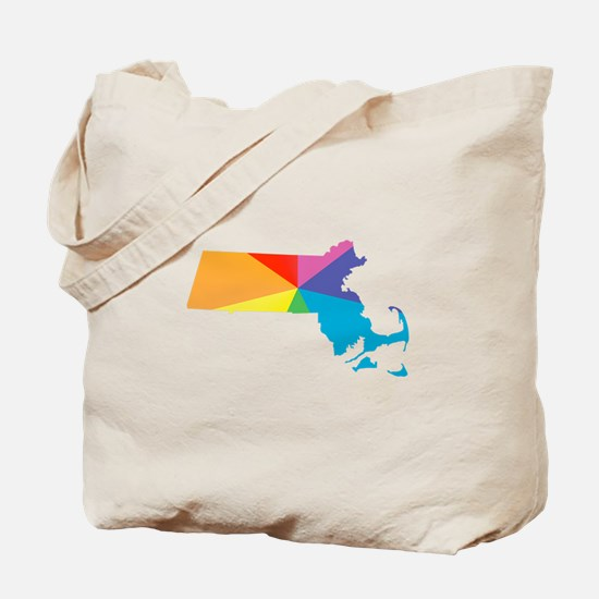 massachusetts rainbow Tote Bag