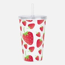 Strawberry Patch Acrylic Double-wall Tumbler