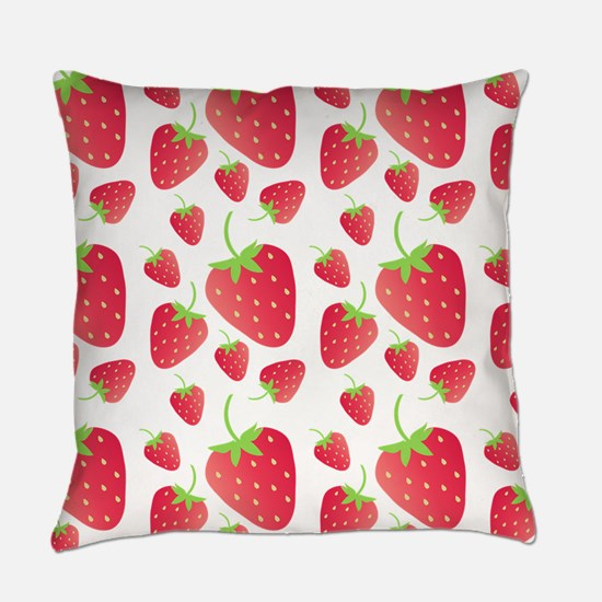 Strawberry Patch Everyday Pillow