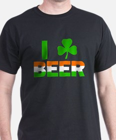 St Patricks Day Green Beer Drinking T-Shirt
