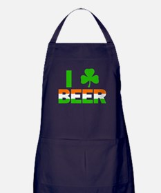 St Patricks Day Green Beer Drinking Apron (dark)
