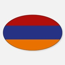 """Armenia Flag"" Oval Decal"
