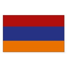 """Armenia Flag"" Rectangle Decal"