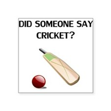 Did Someone Say Cricket? Sticker