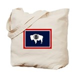 Wyoming State Flag on Tote Bag