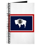 Wyoming State Flag on Journal