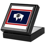 Wyoming State Flag on Keepsake Box