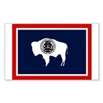 Wyoming State Flag on Rectangle Sticker