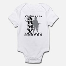 Grandpa Proudly Serves - ARMY Infant Bodysuit