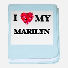 I love my Marilyn baby blanket