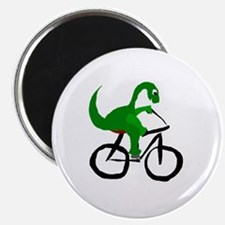 Dinosaur Riding Bicycle Magnet