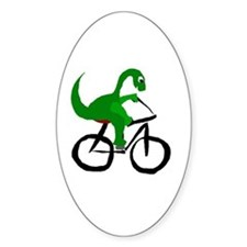 Dinosaur Riding Bicycle Decal