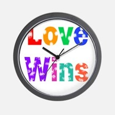 Vintage Love Wins. Wall Clock