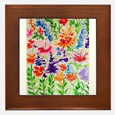 Festive Flowers Framed Tile