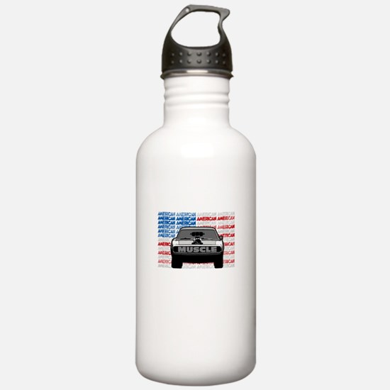 Street Racing American Water Bottle