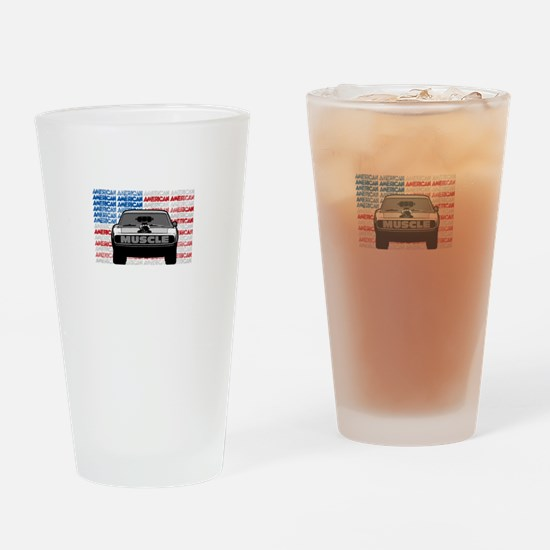 Street Racing American Muscle Drinking Glass