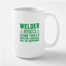 Caution Welder Mugs