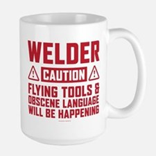 Caution Welder Mugs