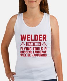 Caution Welder Tank Top
