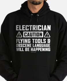 Caution Electrician Hoodie