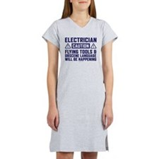 Caution Electrician Women's Nightshirt