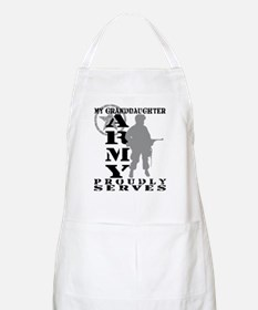 Granddaughter Proudly Serves - ARMY BBQ Apron