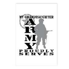 Granddaughter Proudly Serves - ARMY Postcards (Pac