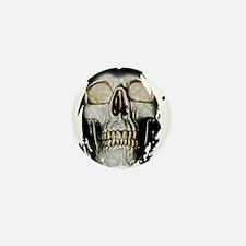 Human Skull Mini Button