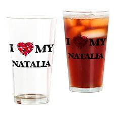 I love my Natalia Drinking Glass