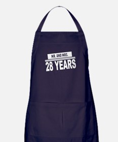 Mr. And Mrs. 28 Years Apron (dark)