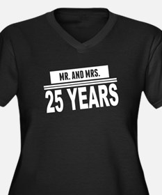 Mr. And Mrs. 25 Years Plus Size T-Shirt