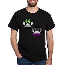 Aro Ace Pride Paws T-Shirt