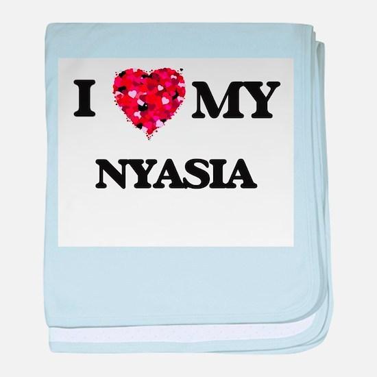 I love my Nyasia baby blanket
