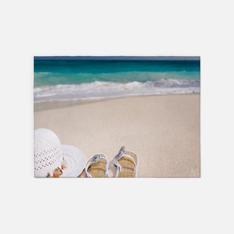Relaxing Beach 5'x7'Area Rug