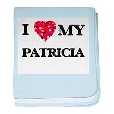 I love my Patricia baby blanket