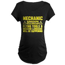 Caution Mechanic Maternity T-Shirt