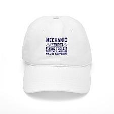 Caution Mechanic Baseball Cap