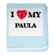 I love my Paula baby blanket