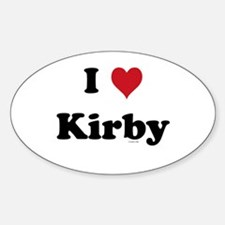 Cute I heart kirby Decal