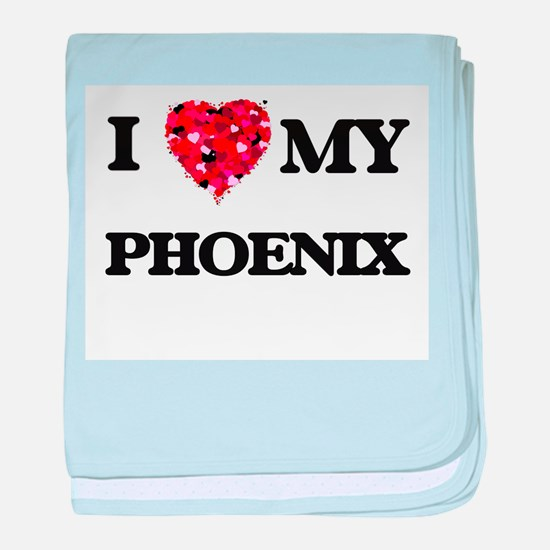 I love my Phoenix baby blanket