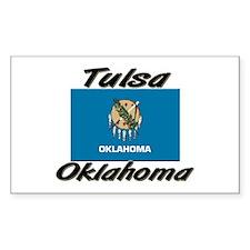 Tulsa Oklahoma Rectangle Decal