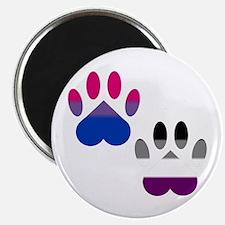 Bi Ace Pride Paws Magnet