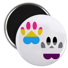 Panromantic Ace Pride Paws Magnet