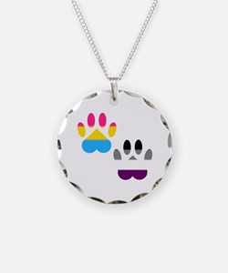 Panromantic Ace Pride Paws Necklace