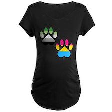 Aro Pansexual Pride Paws T-Shirt